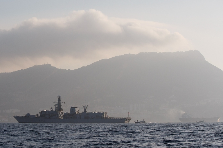 <p>HMS Westminster arrived in Gibraltar on Monday.</p>