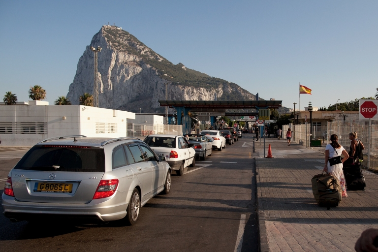 <p>The border at La Linea de la Concepcion.</p>