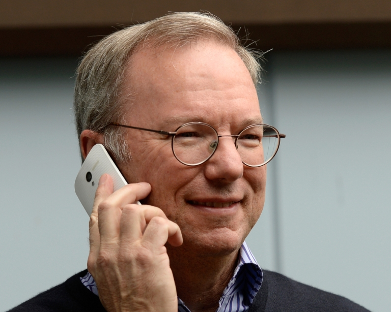 <p>Eric Schmidt, executive chairman of Google, makes a call the new Moto X. Amid fierce competition the phone sales are poised to disappoint.</p>