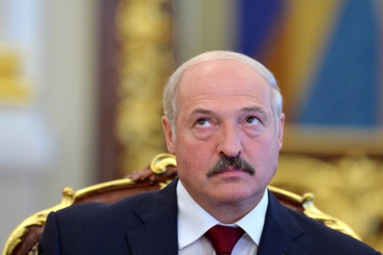 <p>Belarussian President Alexander Lukashenko on June 18, 2013 during a meeting in Kyiv, Ukraine.</p>
