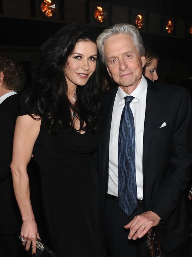 <p>This photo of Michael Douglas and Catherine Zeta-Jones taken on April 22 at the Film Society of Lincoln Center's 40th Chaplin Award Gala in New York City was the last time the couple was photographed together.</p>