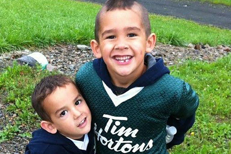 <p>Autopsies on Noah Barthe, four, and Connor Barthe, six, found the brothers from Cambellton, New Brunswick, died of asphyxiation likely from an African rock python, police said on Aug. 7, 2013.</p>