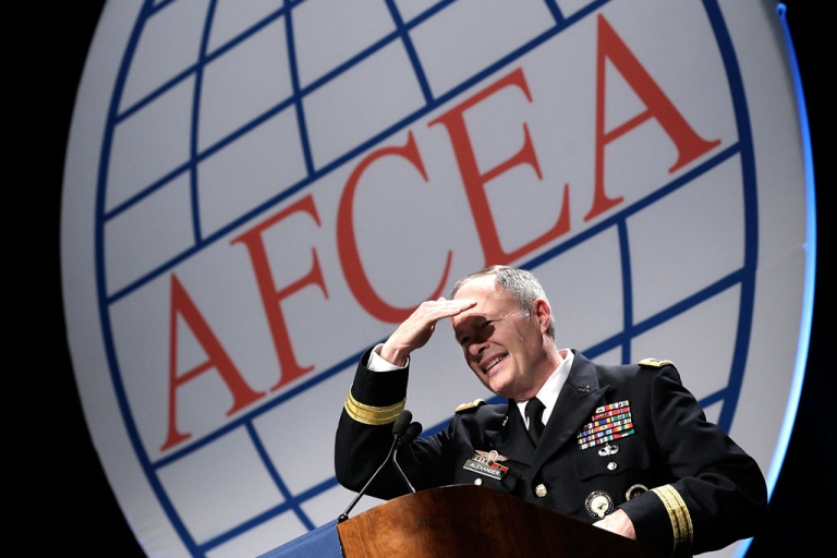 <p>Army Gen. Keith Alexander, director of the National Security Agency, speaks at an Armed Forces International Cyber Symposium on June 27, 2013. The NSA is in the spotlight again after new documents reveal that it consistently broke rules set out by the Fisa court.</p>
