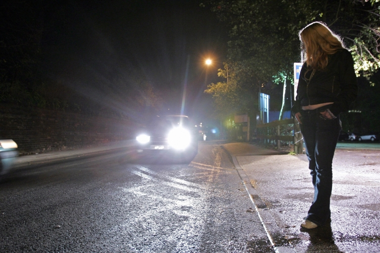 <p>A prostitute in Suffolk, in eastern England, which was gripped by a serial killer scare in 2006 after the death of five women. Sex workers are many times more likely to be targeted by criminals.</p>