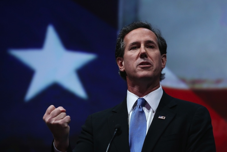<p>Iowa was a who's-who of potential presidential candidates this weekend, including Rick Santorum.</p>
