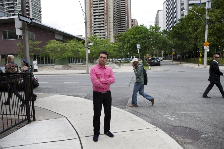 <p>Arsham Parsi, founder and executive director of the Iranian Railroad for Queer Refugees (IRQR) photographed in Toronto.</p>