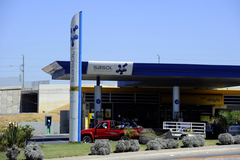 <p>A Sasol gasoline station in Johannesburg, South Africa, on Sept. 22, 2010.</p>