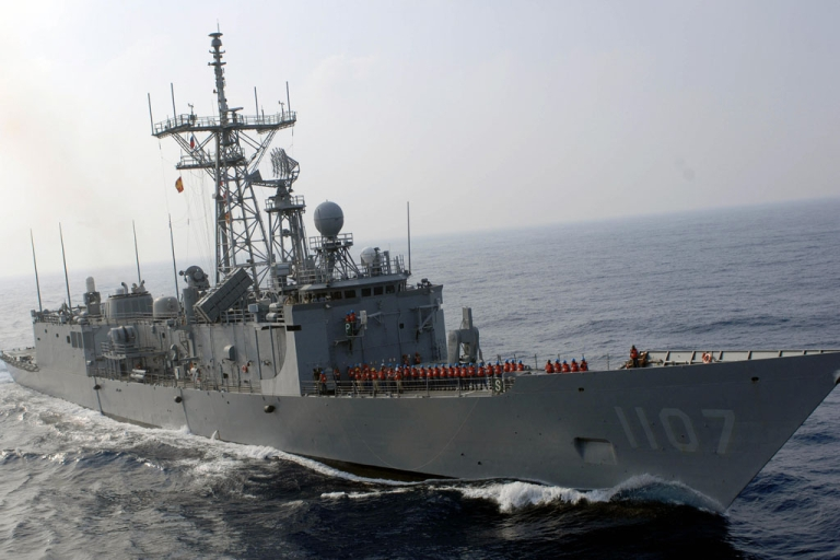 <p>Taiwanese crew stand onboard a Perry-class frigate during a drill off Kaohsiung, Taiwan, on Sept. 12, 2007. A Taiwanese lawmaker announced on Aug. 30, 2013, the country was buying two of the frigates from the US Navy as it stares down perceived threats from China.</p>