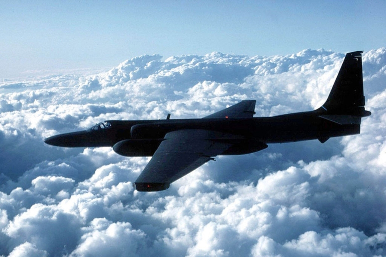 <p>A US Air Force U-2 spy plane flies in this undated file photo.</p>