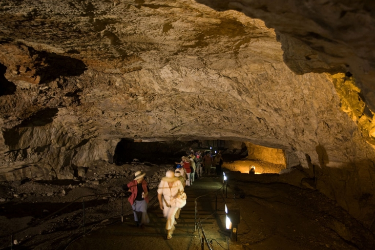<p>Zedekiah's Cave, a five-acre underground limestone cavern that runs below much of the Muslim quarter of the Old City of Jerusalem, served as a venue during the Sacred Music Festival in August 2013.</p>