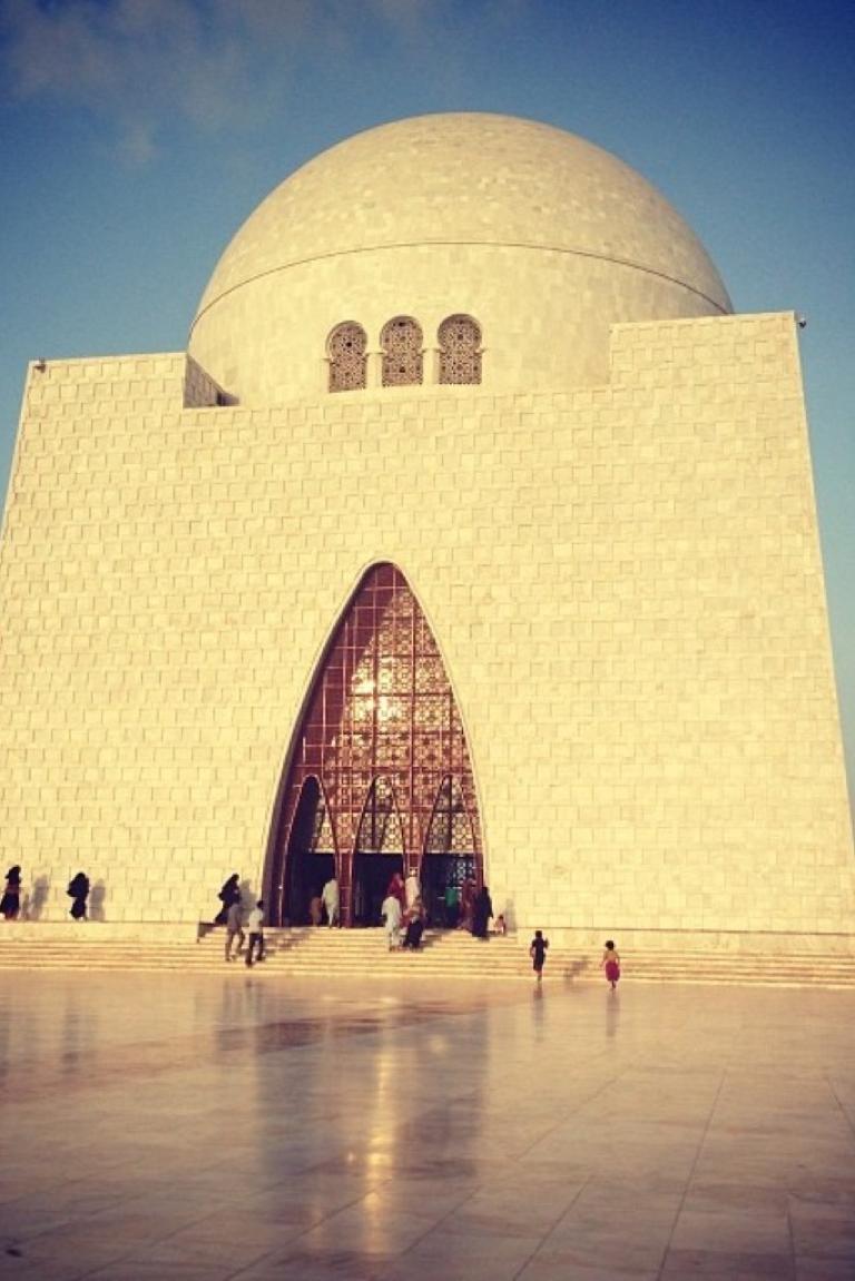<p>The majestic Mazar-e-Quaid in Karachi. The body of Pakistan's founder is interred here.</p>