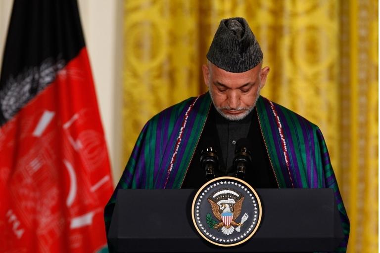 <p>Afghan President Hamid Karzai.</p>
