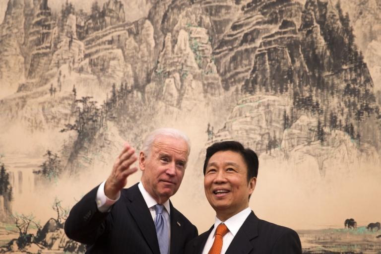<p>Vice President Joe Biden with his Chinese counterpart Li Yuanchao.</p>