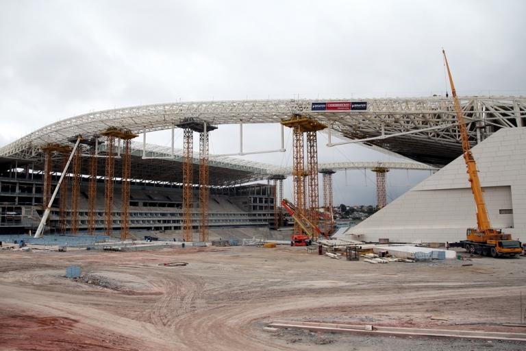 <p>Brazil's Arena de Sao Paulo in construction, as of Nov. 30.</p>