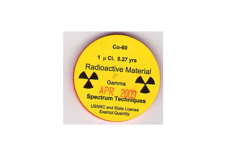 <p>An isotope container of cobalt-60.</p>