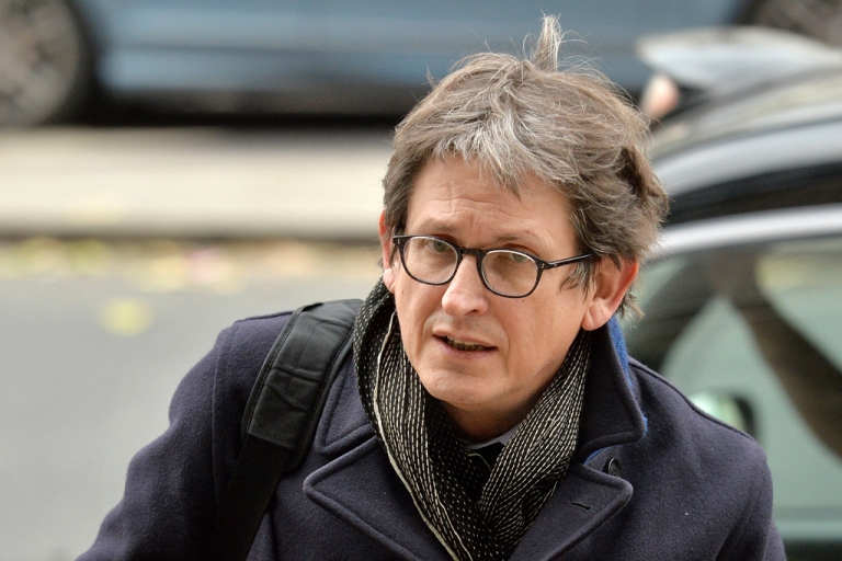 <p>The editor of Britain's Guardian newspaper, Alan Rusbridger, arrives at Portcullis House in London on December 3, 2013, to appear before lawmakers to defend his newspaper's publication of intelligence documents leaked by former US intelligence analyst Edward Snowden.</p>
