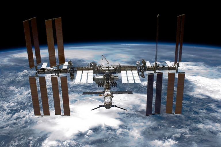 <p>The International Space Station (ISS) as seen from NASA space shuttle Endeavour on May 29, 2011.</p>