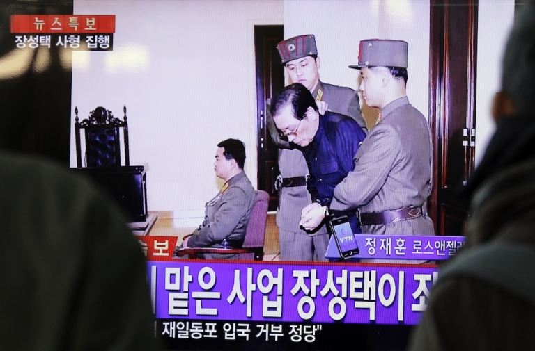 <p>A television screenshot of Jang Song Taek in court before his execution on December 12, 2013. Amid theories that a sordid affair or porn video was to blame, credible evidence has emerged that Jang had been seeking to overthrow the government since the mid-1990s.</p>