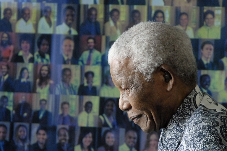 <p>Nelson Mandela at home in Cape Town, Aug. 20, 2008.</p>