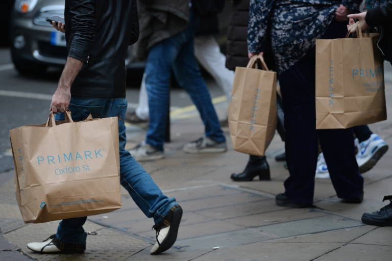 <p>Bargain shoppers on London's Oxford Street.</p>