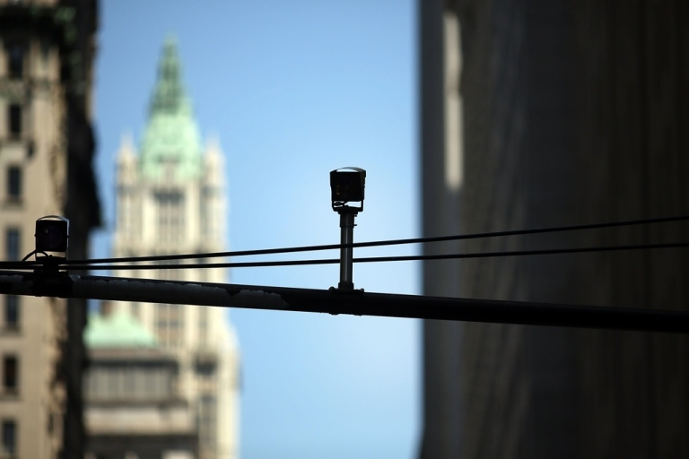 <p>A surveillance camera in New York.</p>