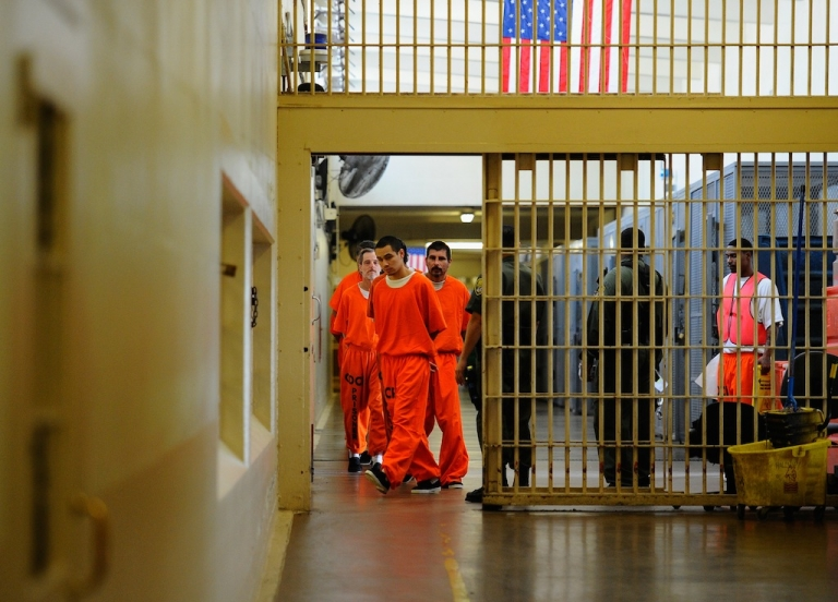 <p>Inmates at the California Institution for Men state prison in Chino, California, on Dec. 10, 2010.</p>