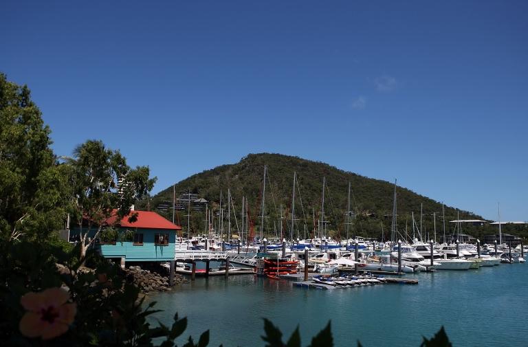 <p>A marina on Hamilton Island on November 6, 2010 in the Whitsundays, Australia.</p>