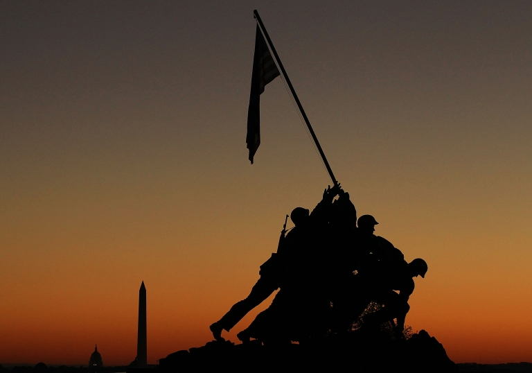 <p>The 20-foot statue of the flag raising by Marines at Iwo Jima will be auctioned by a American war artifact collector Rodney Hilton later this month.</p>