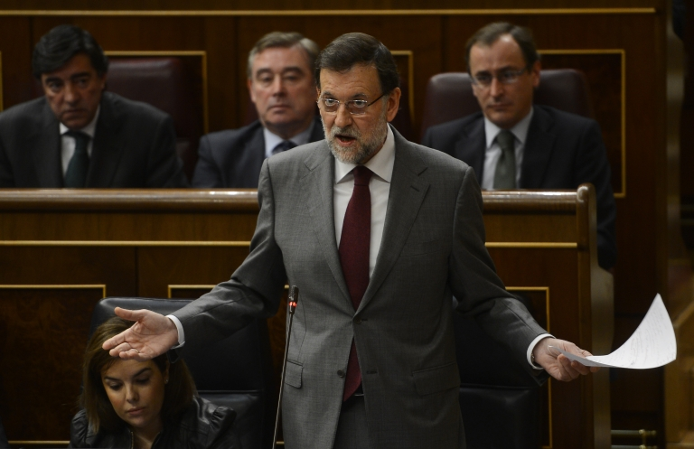 <p>Spanish newspaper El Pais published what it said were secret accounts kept by the ruling People's Party. Prime Minister Mariano Rajoy said he will address the scandal Saturday.</p>