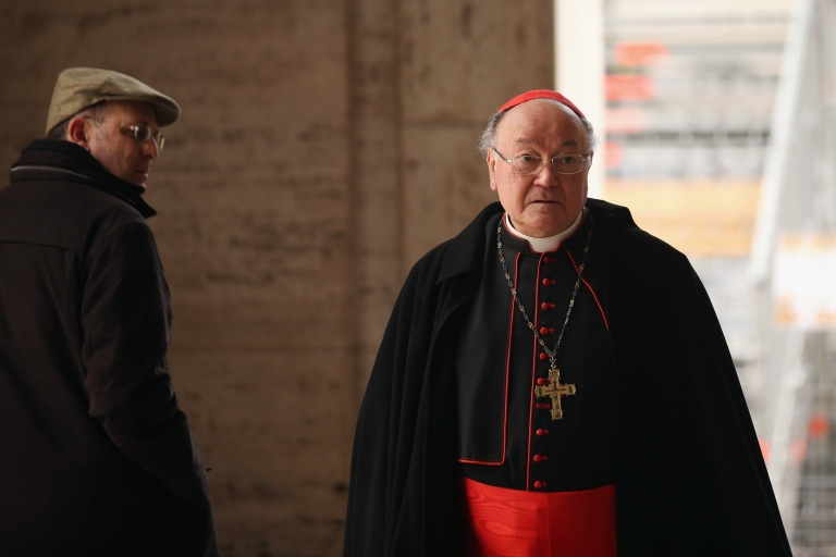 <p>A cardinal walks near St. Peter's Square ahead of Pope Benedict XVI's last public audience on February 25, 2013 in Vatican City, Vatican. Benedict has been the leader of the Catholic Church for eight years and is the first Pope to retire since 1415. He cites ailing health as his reason for retirement and will spend the rest of his life in solitude away from public engagements.</p>