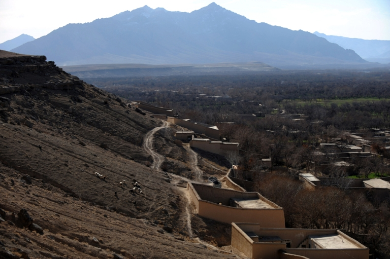 <p>Afghan village houses in Chora valley, southern Uruzgan province.</p>