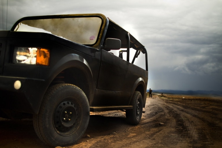 <p>The Mobius, Africa's $6,000 anti-Hummer, in action.</p>