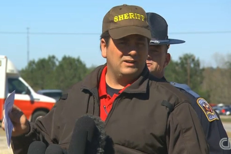 <p>Dale County Sheriff Wally Olson speaks to media about Jimmy Lee Dkyes in Midland City, Alabama on Feb. 2, 2012.</p>