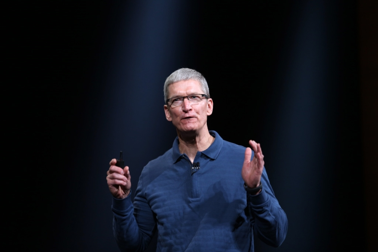 <p>Apple CEO Tim Cook speaks during Apple's special event at the California Theater in San Jose on October 23, 2012. Apple unveiled a smaller version of its hot-selling iPad on Tuesday, jumping into the market for smaller tablet computers dominated by Amazon, Google, and Samsung.</p>