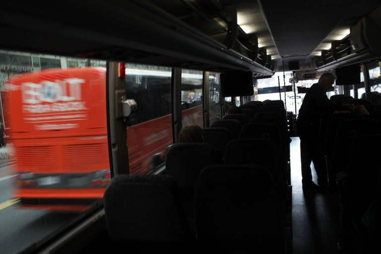 <p>A discount bus waits for passengers for a trip to Philadelphia from Manhattan on March 30, 2011 in New York City. After a series of recent accidents, one of which killed 15 and injured more than a dozen others on March 12 on the Westchester County-Bronx border, discount bus services have come under intense scrutiny.</p>