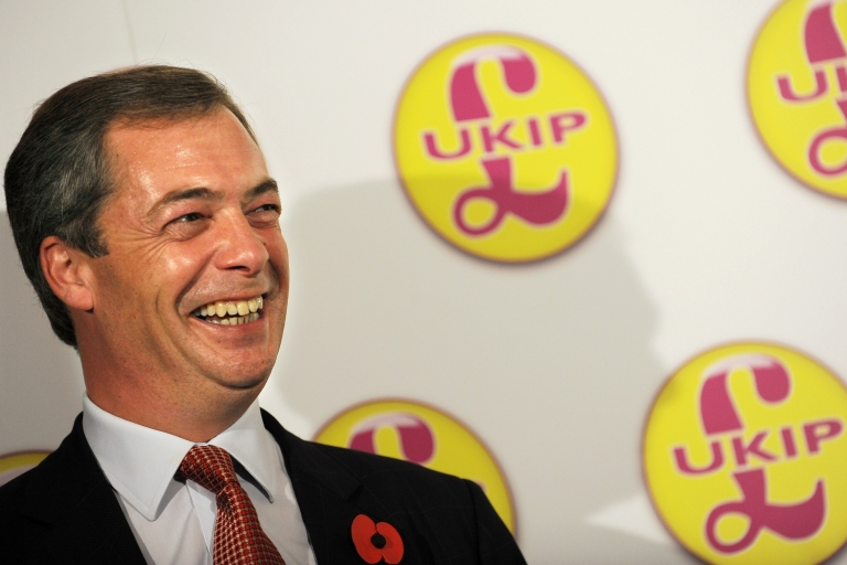 <p>On the up and up: UKIP leader Nigel Farage.</p>