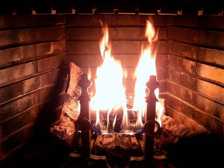 <p>Norwegian public television broadcast a 12 hour block of burning wood with