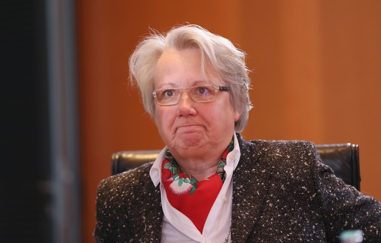 <p>German Education Minister Annette Schavan is fighting for her political life after the University of Dusseldorf stripped her of her doctorate for plagiarism.</p>