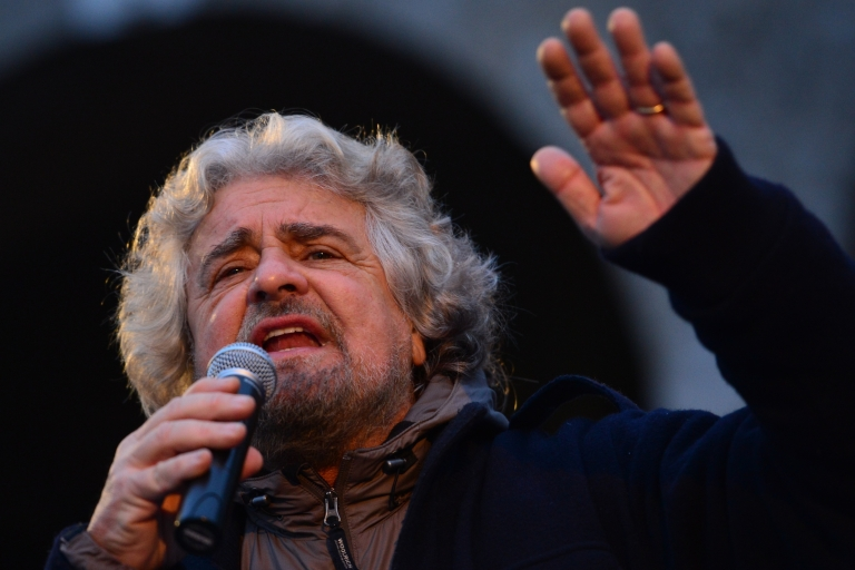 <p>Comedian Beppe Grillo's populist Five Star Movement shot to prominence criticizing Mario Monti's austerity policies.</p>