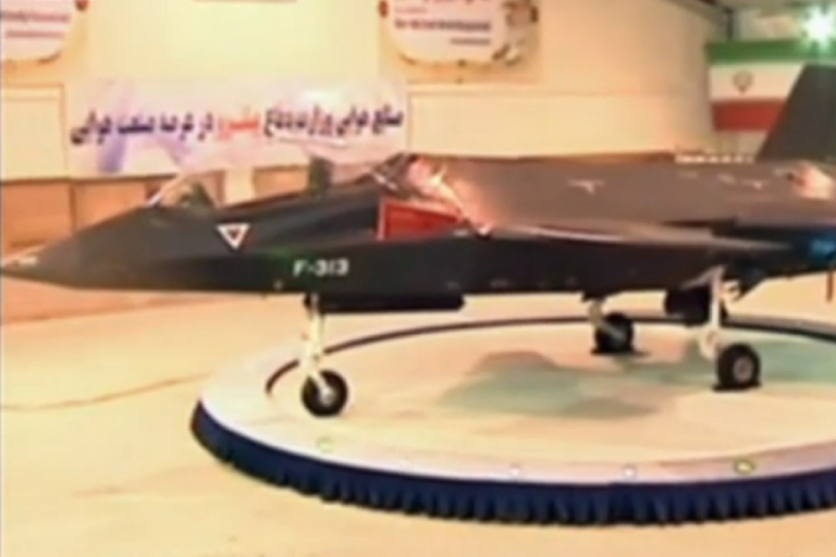 <p>Iran claims it unveiled the Qaher F313 fighter jet. It is the latest jet Iran has unveiled since the Azarakhsh in 2007.</p>