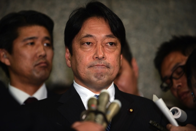 <p>Japanese Defense Minister Itsunori Onodera speaks to reporters at the Defense Ministry in Tokyo on Feb. 5, 2013.</p>