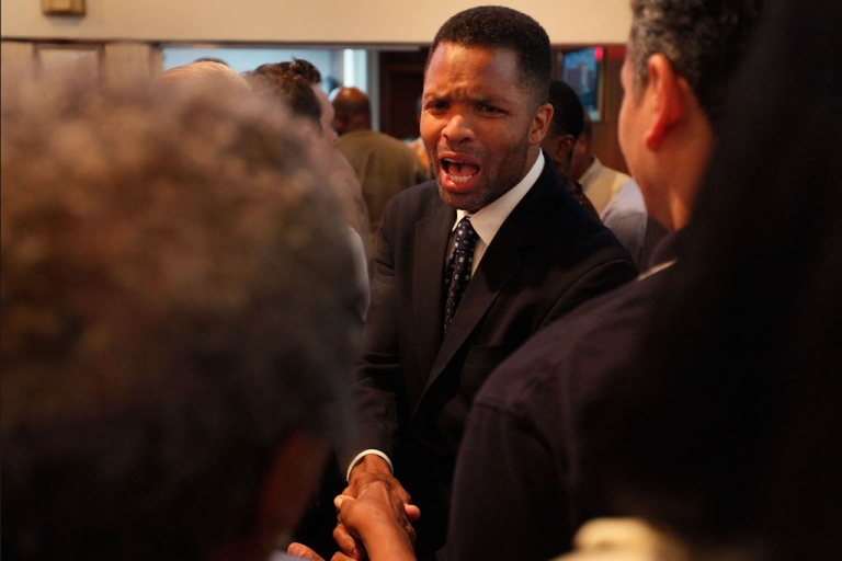 <p>U.S. Rep. Jesse Jackson Jr. (D-Ill.) talks to constituents at a town hall meeting August 18, 2009 in Chicago, Illinois.</p>