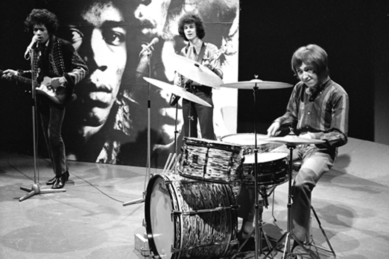<p>The Jimi Hendrix Experience performs on Dutch television in 1967.</p>