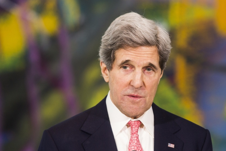 <p>U.S. Secretary of State John Kerry speaks during a statement to the press on Feb. 26, 2013 in Berlin, Germany.</p>
