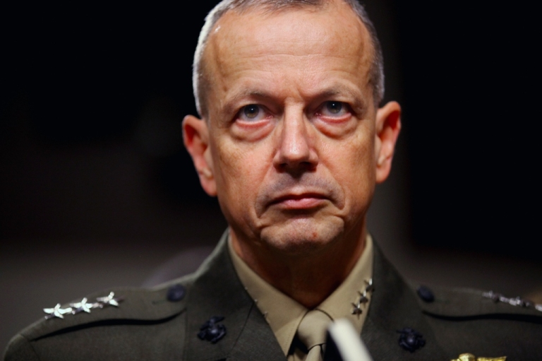 <p>United States Marine Corps Lieutenant General John Allen prepares to testify before the Senate Armed Services Committee on Capitol Hill June 28, 2011 in Washington, DC.</p>