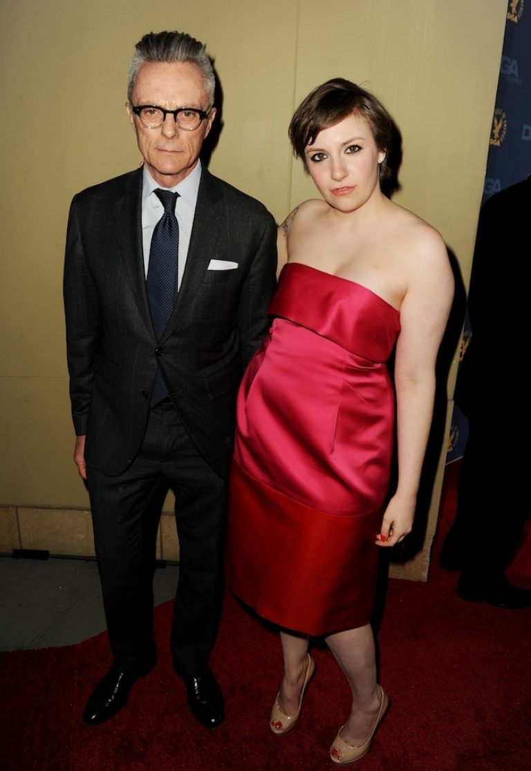 <p>Actress-director Lena Dunham (R) and father, artist Carroll Dunham, attend the 65th Annual Directors Guild Of America Awards at Ray Dolby Ballroom at Hollywood &amp; Highland on February 2, 2013 in Los Angeles, California.</p>