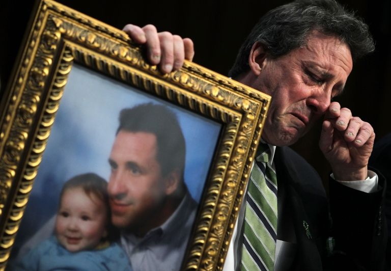 <p>Neil Heslin sobbed as he described to the Senate in Washington DC the impact of the death of his 6-year-old son Jesse in the Sandy Hook Elementary School shooting.</p>