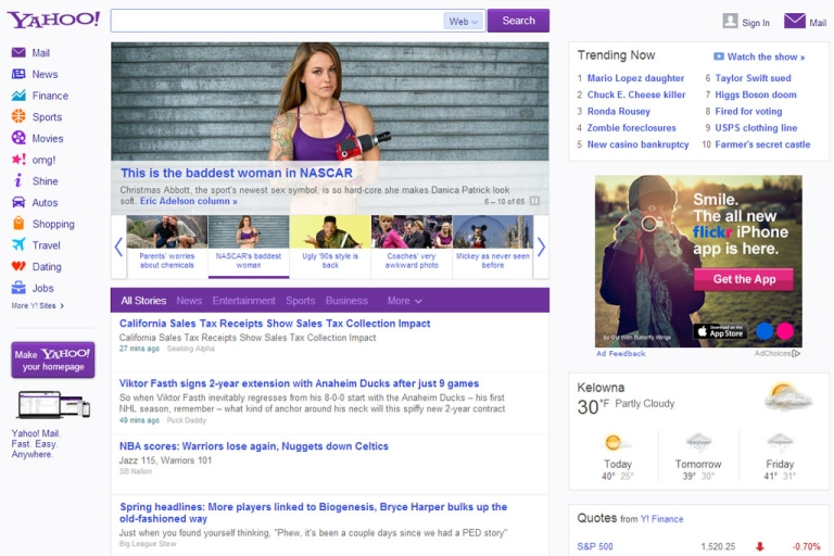 <p>CEO Marissa Mayer revealed a new, streamlined Yahoo! home page on Feb. 20, 2013, saying it's faster and friendlier to use.</p>