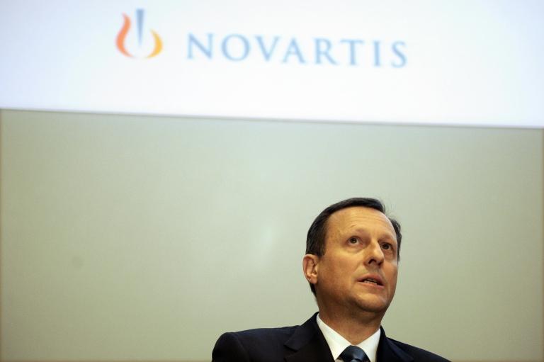 <p>Daniel Vasella at Novartis' annual media conference in Basel, Switzerland, on Jan. 28, 2009.</p>