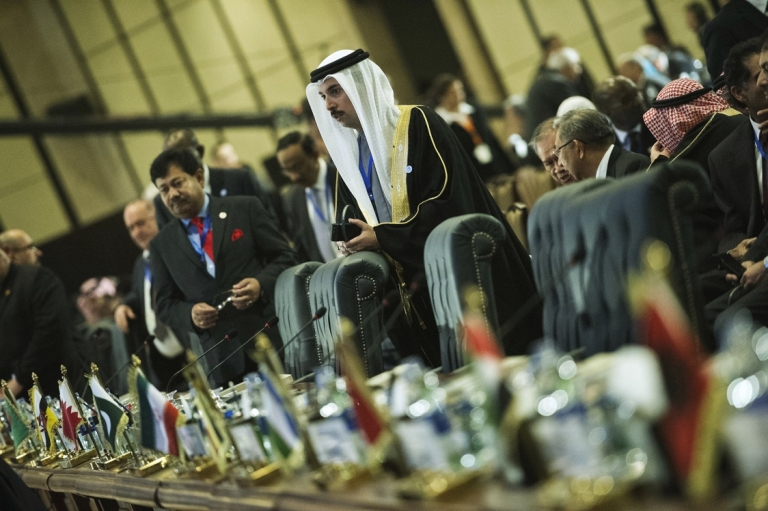 <p>Delegates at the 12th summit of the Organization of Islamic Cooperation in Cairo, Feb. 6, 2013. The meeting gathers the leaders of 26 of the OIC's 57 states.</p>